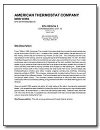 American Thermostat Company by Environmental Protection Agency