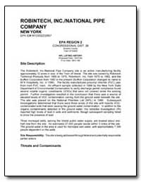 Robintech, Inc./National Pipe Company by Environmental Protection Agency