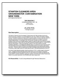 Stanton Cleaners Area Groundwater Contam... by Environmental Protection Agency