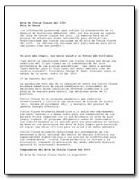 Acta de Cielos Claros Del 2003 Hoja de D... by Environmental Protection Agency