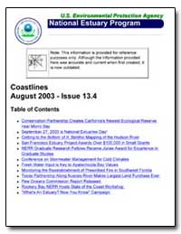 Coastlines August 2003-Issue 13. 4 by Environmental Protection Agency