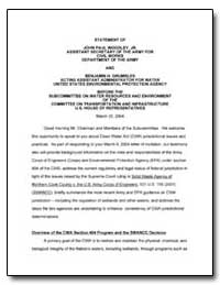 Statement of John Paul Woodley, Jr. Assi... by Environmental Protection Agency