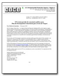 Epa Inicia Periodo de Comentario Publico... by Environmental Protection Agency