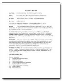 Clean School Bus U. S. A. Assistance Agr... by Environmental Protection Agency