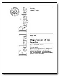 Department of the Interior by Environmental Protection Agency