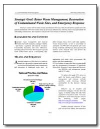 Strategic Goal : Better Waste Management... by Environmental Protection Agency