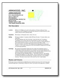 Arkwood, Inc. Arkansas by Environmental Protection Agency