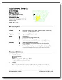 Industrial Waste Control Arkansas by Environmental Protection Agency