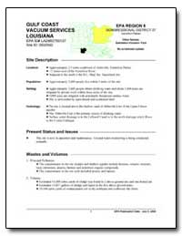 Gulf Coast Vacuum Services Louisiana by Environmental Protection Agency
