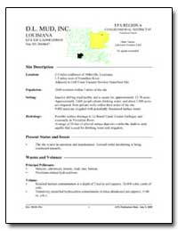D. L. Mud, Inc. by Environmental Protection Agency