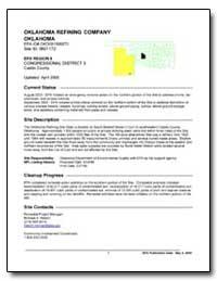 Oklahoma Refining Company Oklahoma by Environmental Protection Agency