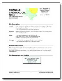 Triangle Chemical Co. Texas by Environmental Protection Agency