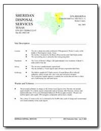 Sheridan Disposal Services by Environmental Protection Agency
