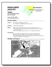 Highlands Epa Region 6 Acid Pit by Environmental Protection Agency