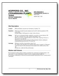 Koppers Co., Inc (Texarkana Plant) by Environmental Protection Agency
