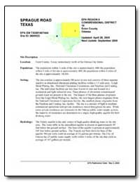 Sprague Road Texas by Environmental Protection Agency