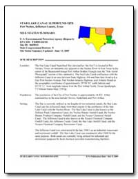 Star Lake Canal Superfund Site by Environmental Protection Agency