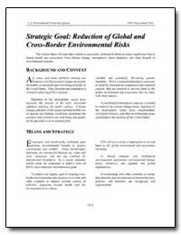 Strategic Goal : Reduction of Global and... by Environmental Protection Agency