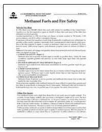 Methanol Fuels and Fire Safety by Environmental Protection Agency