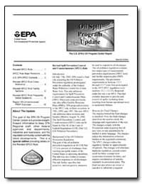 Oil Spill Program Update by Environmental Protection Agency