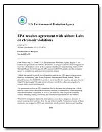 Epa Reaches Agreement with Abbott Labs o... by Omohundro, William