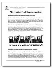 Alternative Fuel Demonstrations by Environmental Protection Agency