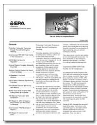Oil Program Update by Environmental Protection Agency