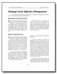 Strategic Goal : Effective Management by Environmental Protection Agency