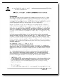 Motor Vehicles and the 1990 Clean Air Ac... by Environmental Protection Agency