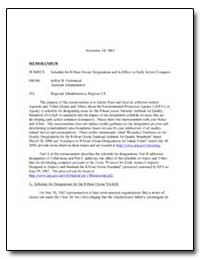 Memorandum by Environmental Protection Agency