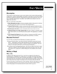 Fact Sheet-Site-Related Information for ... by Environmental Protection Agency