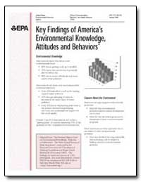 Key Findings of America's Environmental ... by Environmental Protection Agency