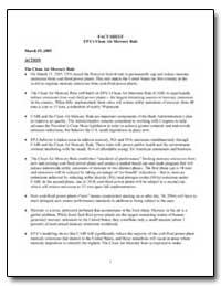 Epa's Clean Air Mercury Rule by Environmental Protection Agency