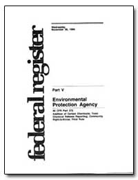 Part V United States Environmental Prote... by Environmental Protection Agency
