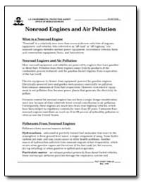 Nonroad Engines and Air Pollution by Environmental Protection Agency
