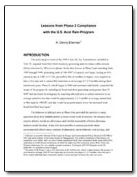 Lessons from Phase 2 Compliance with the... by Ellerman, A. Denny