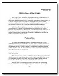 Cross-Goal Strategies by Environmental Protection Agency