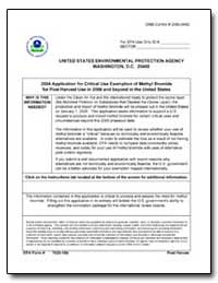 2004 Application for Critical Use Exempt... by Environmental Protection Agency