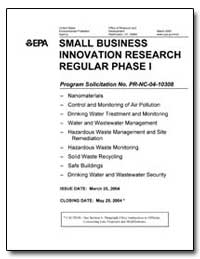 Small Business Innovation Research Regul... by Environmental Protection Agency