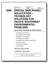 Special Sbir Phase I Solicitation Techno... by Environmental Protection Agency