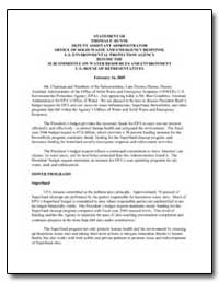 Statement of Thomas P. Dunne Deputy Assi... by Environmental Protection Agency