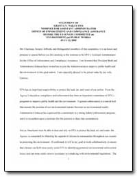 Statement of Granta Y. Nakayama Nominee ... by Environmental Protection Agency