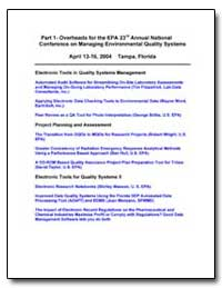Part 1 - Overheads for the Epa 23Rd Annu... by Brilis, George M.