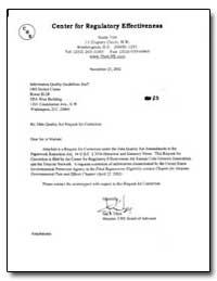 Center for Regulatory Effectiveness by Tozzi, Jim Joseph