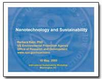 Nanotechnology and Sustainability by Karn, Barbara