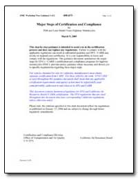 Major Steps of Certification and Complia... by Environmental Protection Agency