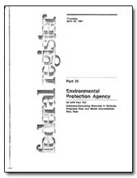 Part III United States Environmental Pro... by Klein, Edward A.