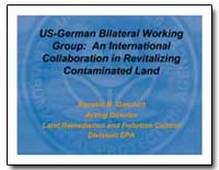 U. S. German Bilateral Working Group : A... by Gatchett, Annette M.