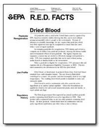 R.E.D. Facts Dried Blood by Environmental Protection Agency