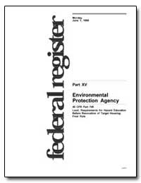 Part XV United States Environmental Prot... by Environmental Protection Agency